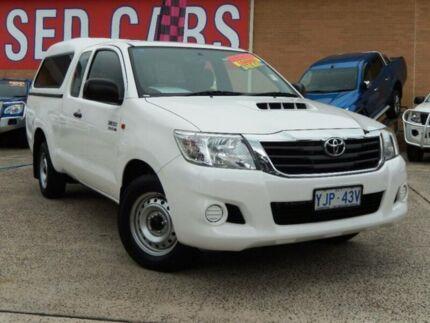2013 Toyota Hilux KUN16R MY12 SR White 5 Speed Manual X Cab Pickup