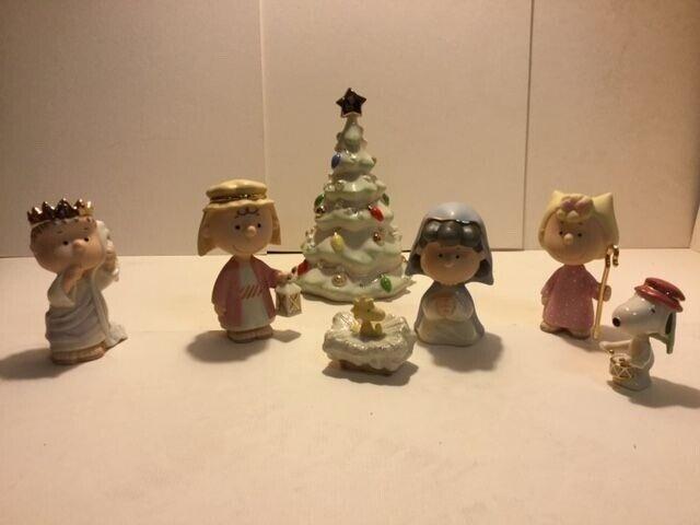 Lenox Nativity Peanuts The Christmas Pageant Charlie Brown NIB with COA