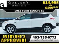 2013 Ford Escape SE $109 Bi-Weekly APPLY NOW DRIVE NOW