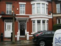 Large double room, terraced house adjacent to Allerton Road L18
