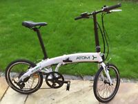 folding electric bike with concealed battery