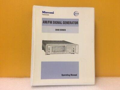 Marconi Am Fm Signal Generator 2040 Series Operating Manual