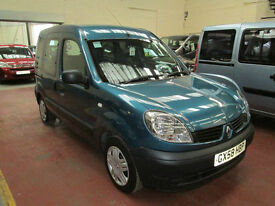 58 RENAULT KANGOO WHEELCHAIR ADAPTED 50 + ADAPTED VEHICLES IN STOCK