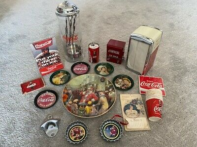 Coca Cola LOT OF ASSORTED COLLECTIBLE ITEMS some VINTAGE
