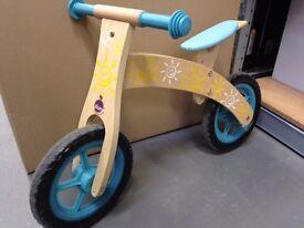 Brand New Plum Wooden Balance Bike