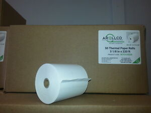 3 1/8 x 220 Thermal rolls -order 5 boxes of 50 @ 71.00 /box