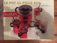 Unused Bodum 11 Piece Tea Set