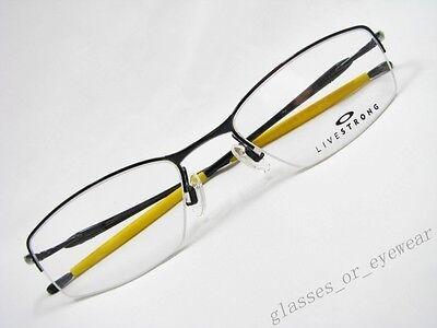 e36bd5aa04 Free Shipping Eyeglass Frames-Oakley TRANSISTOR 22-232 LIVESTRONG Polished  Black 51mm Glasses