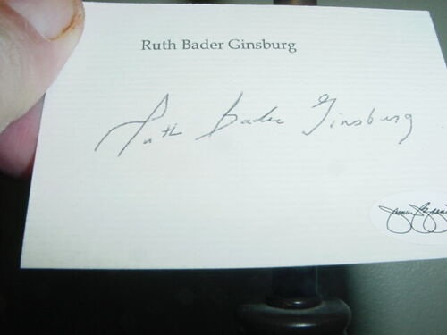 RUTH BADER GINSBURG signed AUTOGRAPHED note CARD on her stationary JSA certified