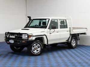 2016 Toyota Landcruiser VDJ79R MY12 Update GXL (4x4) White 5 Speed Manual Double C/Chas
