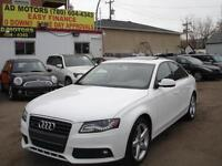 2011 AUDI A4 TURBO AWD S-ROOF 85K-100% APPROVED FINANCING!