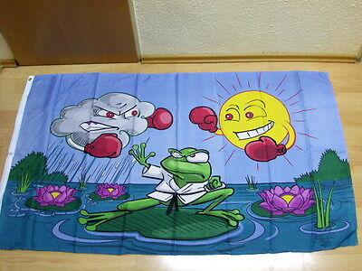 Fahnen Flagge Wetterfrosch - 90 x 150 cm