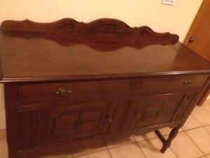 fantastic antique walnut buffet