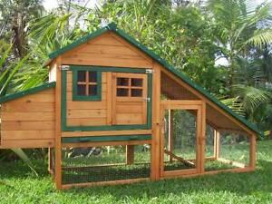 Chicken coop Somerzby Chalet Rabbit Hutch Run Cage Chook pen Guinea Pig house