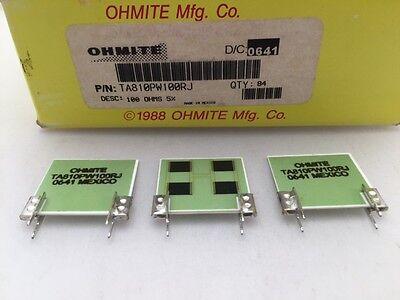 5 Pcs Ta810pw100rj Ohmite 10 Watt 100 Ohm 5 High Power Thick Film Resistor