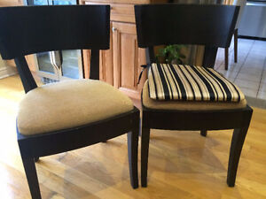 """Beautiful Contemporary, """"Near New"""" Accent Chairs (2)"""