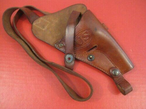 WWII US M3 Leather Shoulder Holster for S&W .38 Victory Revolver - USN Boyt 43