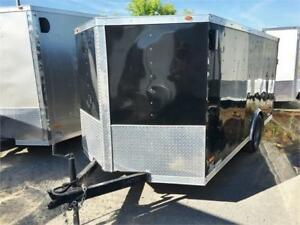 6x12 Cargo Trailer W/Fenders Inside Fits Most Garages