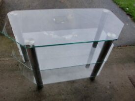 Glass TV table in very good condition