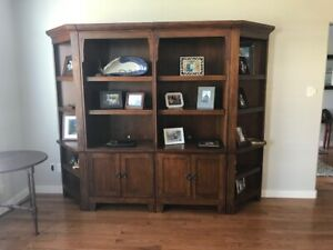 Ashley Wall Unit Like new . It comes in 4 components