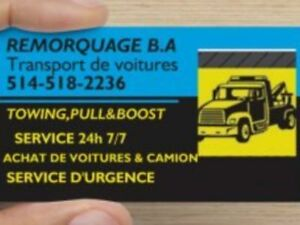 ASSISTANCE ROUTIERE REMORQUAGE TOWING DEPANNEUSE 514 518 2236