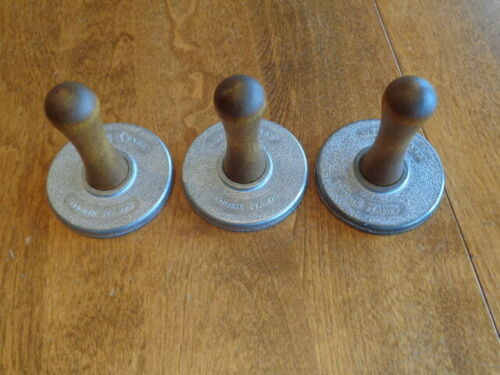 NORDIC WARE CAST ALUMINUM COOKIE STAMPS LOT OF 3