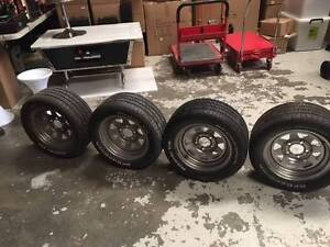 """4x 215 50 13 MAG WHEELS AND BF GOODRICH RADIAL TA TYRES 5 STUD 8"""" Malaga Swan Area Preview"""