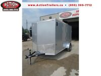 QUALITY MADE - 2016 HAULIN 6 X 12 WEDGE NOSE ENCLOSED TRAILER
