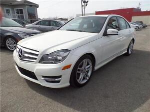 MERCEDES C250 2012 4MATIC/AWD 72.177 KM TOIT OUVRANT, A/C DOUBLE
