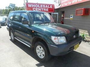 1999 Toyota Landcruiser Prado RZJ95R RV (4x4) Green 5 Speed Manual 4x4 Wagon Edgeworth Lake Macquarie Area Preview