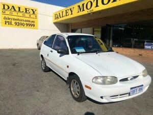 1999 Ford Festiva WF Trio White Manual Hatchback Kelmscott Armadale Area Preview