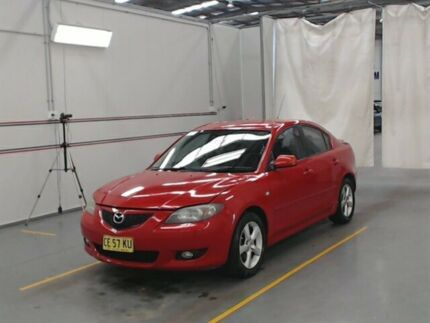 2004 Mazda 3 BK Maxx Sport Red 5 Speed Manual Sedan Warabrook Newcastle Area Preview