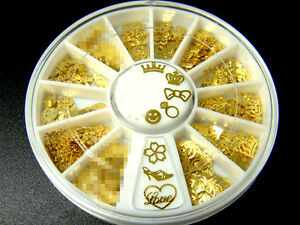 360Pcs-Noble-Gold-Mixed-Design-3D-Metal-Glitters-Slice-Nail-Art-DIY-Decoration