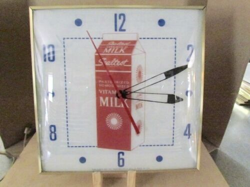 Pam Lighted Sealtest Clock 1970s Excellent Condition All Original