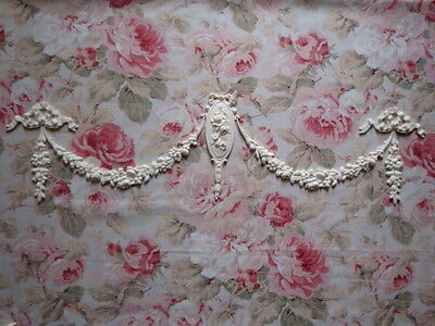 Shabby & Chic Rose Cameo Swags Bows Drops Massive Furniture Applique Embellishment