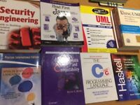 10x Computer Science books (New & Used) - Java C Programming Haskell UML Security Speech Modelling