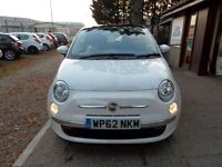 FIAT 500 1.2 LOUNGE 3d 69 BHP ONLY 23,000 MILES (white) 2012
