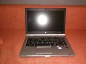 "HP 8460P laptop, 14"" i5, 4gb ram, 320gb HDD"