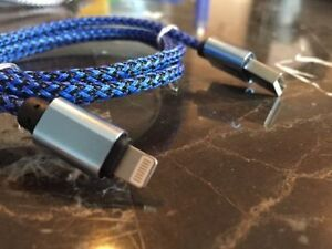 Brand New iPhone 5 & 6, iPad Colored Braided Charger cords