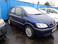 2005 Vauxhall Zafira 7 seater 1.6Petrol MOT'd May £795