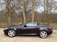 Well maintained Mercedes SLK 1.8 Manual Petrol in Obsidian Black with Wind Deflector FSH