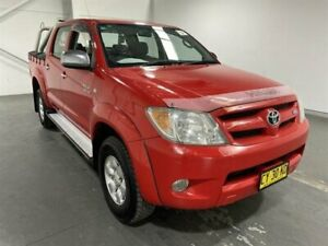 2008 Toyota Hilux GGN25R 07 Upgrade SR5 (4x4) Super Red 5 Speed Automatic Dual Cab Pick-up Beresfield Newcastle Area Preview