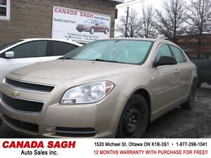 2008 Chevrolet Malibu LOW LOW 53km ONLY!!! 12M.WRTY+SAFETY $6990
