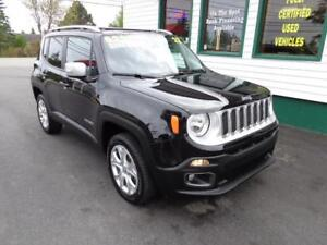 2017 Jeep Renegade Limited for only $212 bi-weekly all in!