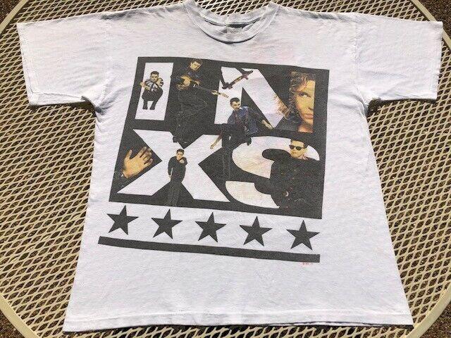 Vintage INXS Calling All Nations Tour -- Original 1988 Band T-shirt White XL