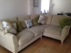 As new, only 12 months old Debenhams corner Sofa