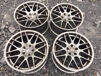 """BMW Fitment 19"""" CSL Alloy Wheels Staggered"""
