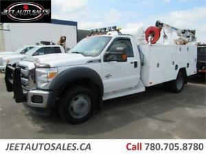 2011 Ford Super Duty F-550 DRW XLT Service Truck, VMAC, Crane