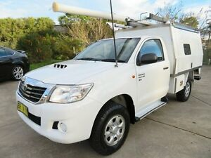 2012 Toyota Hilux KUN26R MY12 SR Xtra Cab White 5 Speed Manual Utility Glendale Lake Macquarie Area Preview