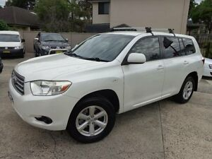 2009 Toyota Kluger GSU45R KX-R (4x4) 7 Seat Pearl White 5 Speed Automatic Wagon Sylvania Sutherland Area Preview